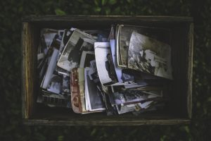 A box of old pictures